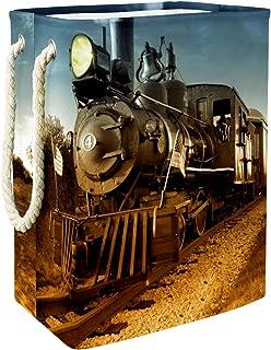 Vockgeng Locomotive de Train Accueil Organisation Panier de Rangement imperméable Pliable de Jouets de Jouets de Panier av...