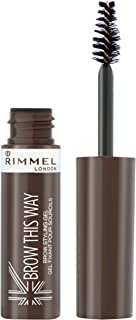 Rimmel London Brow This Way Gel, Dark Brown, 5 ml