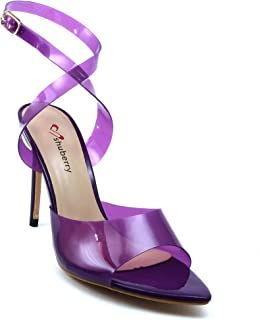 Shuberry SB-19026 Latest Footwear Collection, Comfortable & Fashionable Synthetic in Black, Purple & Red Colour Heels for Women & Girls