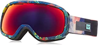 Roxy Rockferry Snow Goggles, Neon Grapefruit/Cloud Nine, One Size