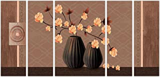 Art Amori Morden Floral Artset of 5 MDF Painting Multicolour 12x18 Inch - 1 Piece + 6x18 Inch-4 pieces for Wall Paintings...