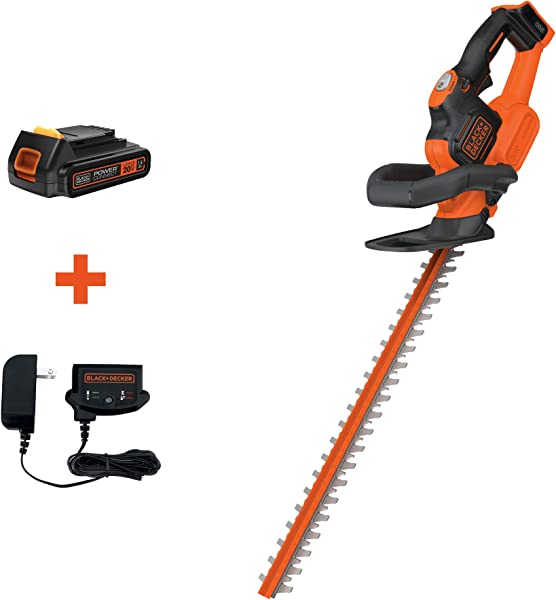 BLACK DECKER 20V MAX Cordless Hedge Trimmer With POWERCOMMAND Powercut 18 Inch LHT321FF