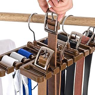 10Ranura cinturón Bufanda Rack Organizador Resistente