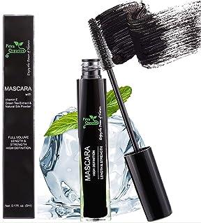 Mascara Waterproof Black - Voluminous Mascara - Fiber Mascara - Silk Mascara - Black Mascara for Sensitive Eyes - Natural ...