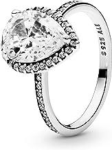 Pandora Jewelry Sparkling Teardrop Halo Cubic Zirconia Ring in Sterling Silver