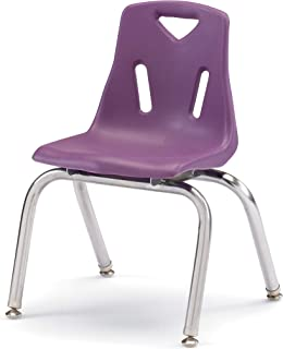 Berries 8144JC1004 Stacking Chair with Chrome-Plated Legs, 14