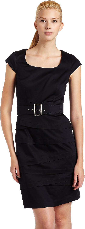 Jessica Howard Women's Asymmetric Belted Sheath Dress