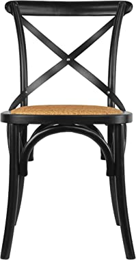 2xHome CH-Cross(Black) Dining Chair