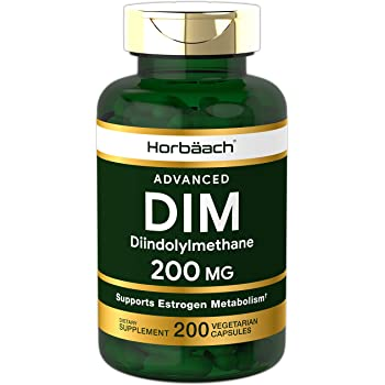 DIM Supplement 200mg | Advanced Diindolylmethane | 200 Veggie Capsules | Vegetarian, Non-GMO, Gluten Free | by Horbaach