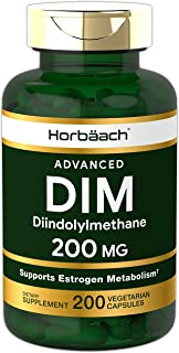DIM Supplement 200mg | 200 Vegetarian Capsules | Vegetarian, Non-GMO, Gluten Free | Huge Size | Advanced Diindolylmethane | by Horbaach