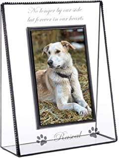 J Devlin Pic 319-46V EP534 Personalized Memorial Pet Picture Frame Engraved Glass Tabletop 4 x 6 Photo Frame Dog Cat