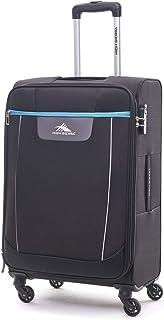 High Sierra Travel Tank Softside Spinner Luggage 56cm with 3 digit Number Lock - Black
