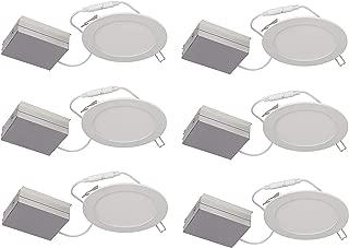 Lightolier (Pack of 6) Flat Downlight LED, 6
