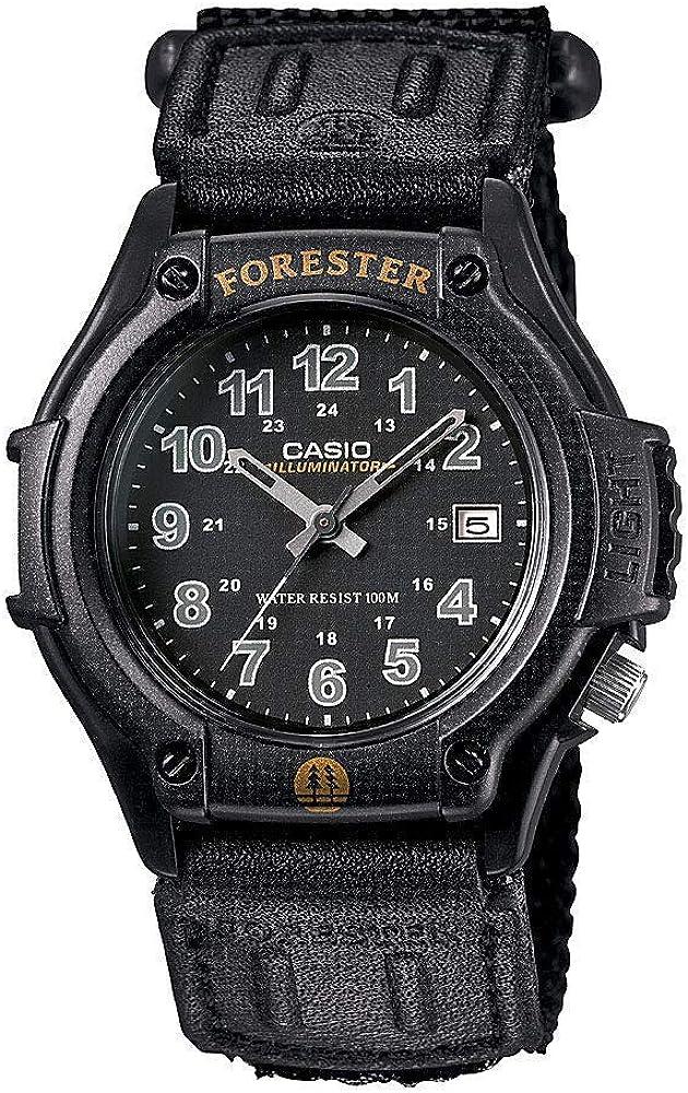 Casio FT500WC-1BV Men's Forester Illuminator LED Light Black Dial Velcro Band Analog Watch