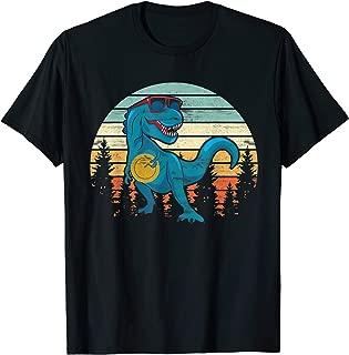 Funny Disc Golf Gift Dinosaur Disc Golf Player Shirt Father T-Shirt