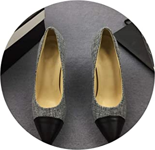 2018 Superstar Pointed Toe Pearl Pumps Mules Slingback High Heels Spell Color Women High Heels 9 cm
