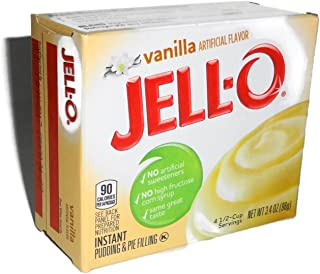Jell-O Vanilla Instant Pudding & Pie Filling, 3.4 Ounce (96g), (5 Packs)