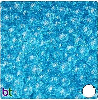 BeadTin Light Turquoise Transparent 8mm Round Craft Beads (300pcs)