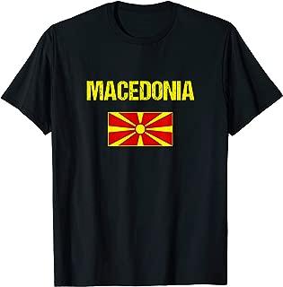 Macedonia T-shirt Macedonian Flag Shirt Men/Women/Youth/Kids