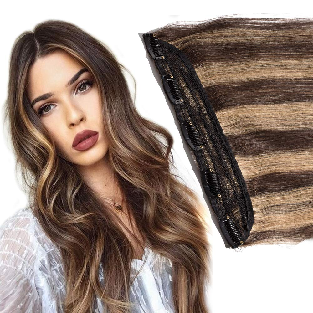 3 4 Full Head Clip sold out in Hair Max 87% OFF B Extension inch Midium 24 Human