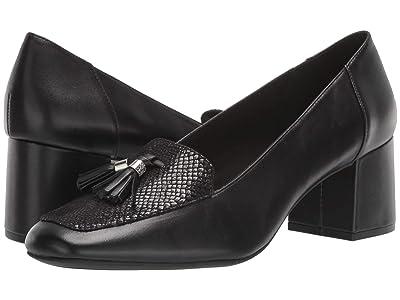 Anne Klein Etonia (Black Leather) Women