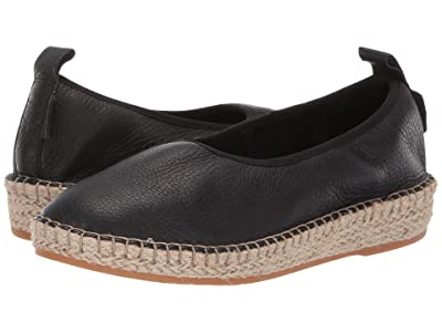 Cole Haan Cloudfeel Espadrille Loafers (Black Leather/Natural Jute) Women