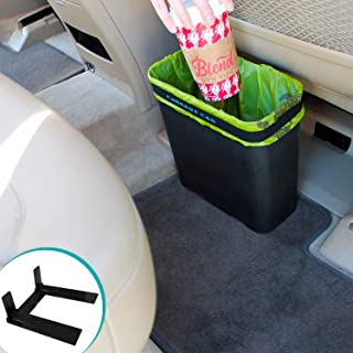 Carbage Can Premium Car Trash Can w/ Floor Mat Clip and Bag Securement Band