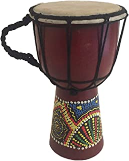"""Djembe Drum Bongo Congo African Drum Wooden Hand Drum Professional Sound - JIVE BRAND (7"""" High - Painted/Carved)"""