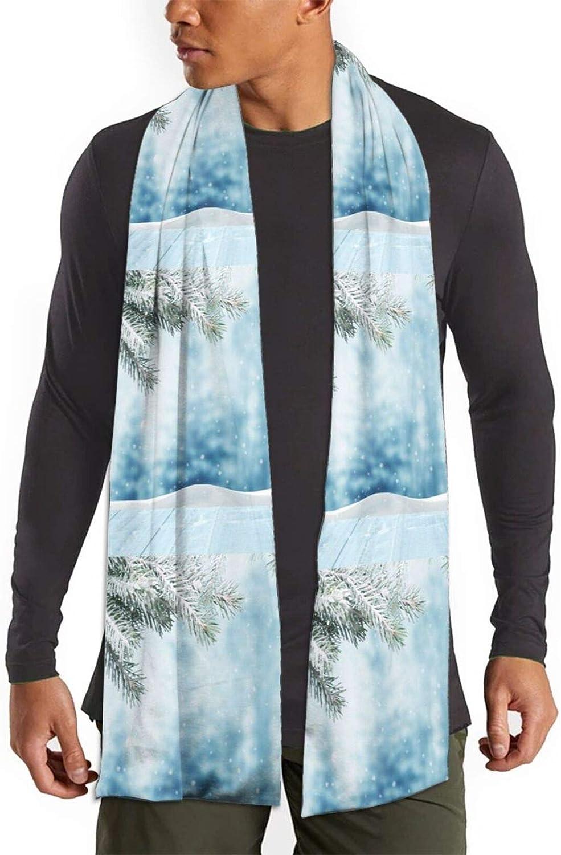 Womens Winter Scarf Snow Pine Tree Christmas Wraps Warm Pashmina Shawls Gift Reversible Soft For Girls