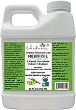 Verdana USDA Organic Cold Pressed Neem Oil 16 Fl. Oz - Non GMO Certified - Unrefined - High Azadirachtin Content - 100% Ne...