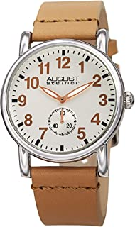 August Steiner Womens Quartz Watch, Analog Display and Leather Strap AS8110SS