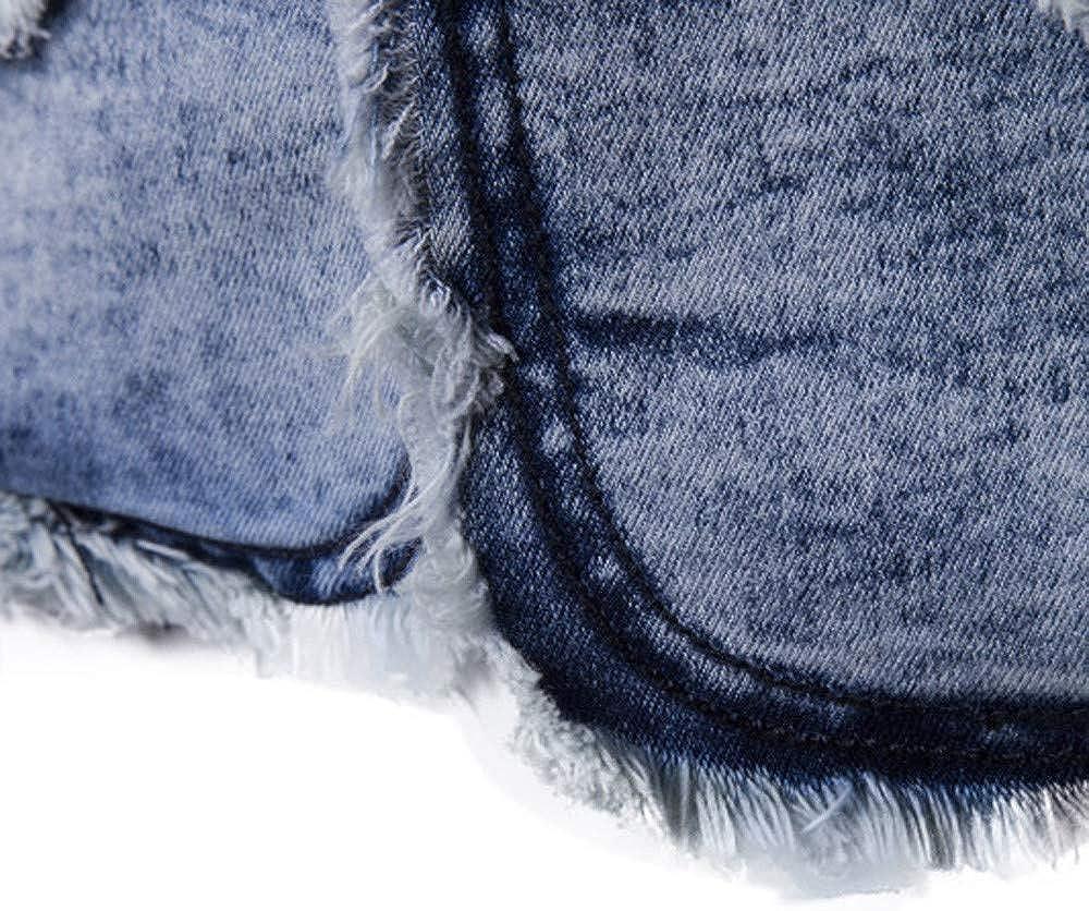 MODOQO Men's Jeans Casual Slim Fit Blazer Suit Sport Coat Jacket