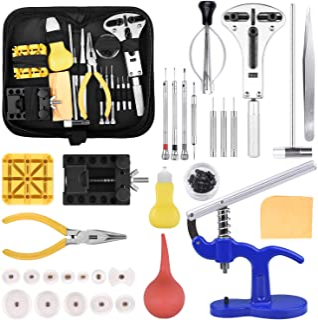 Kit de Réparation de Montres, Outils de Remplacement de Batterie pour Montre Outils horlogerie Jeu d'outils d'horlogerie T...