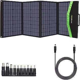 TWELSEAVAN 120W Portable Foldable Solar Panel Charger for Jackery Explorer 160/240/500 Power Station/Suaoki S270/Goal Zero Yeti/Rockpals 250W Solar Generator, with USB QC3.0, Type C, MC4 Connector