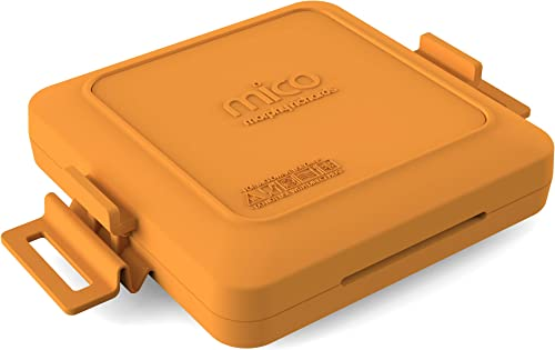 Morphy Richards 511644 MICO Toastie Toasted Sandwich Maker Microwavable Cookware, Silicone and coated metal, Orange