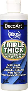 DecoArt TG01-9 Triple Thick Gloss Glaze, 8-Ounce Triple Thick Gloss Glaze