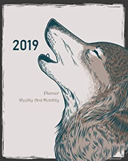 2019 Planner Weekly And Monthly: Husky Cover, Weekly Organizer, Monthly Planner, January 2019 through December 2019 with Holiday