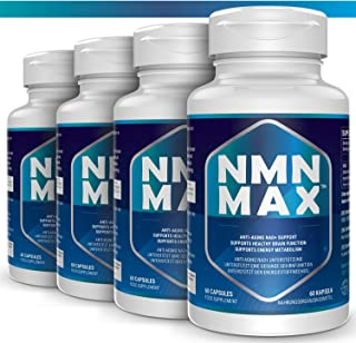4 Pack NMN Capsules with Maximum Strength- 500mg- High Absorption Nicotinamide Mononucleotide Supplement- Supports Brain F...