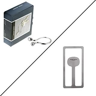Georg Jensen Money Clip & Stainless Steel Mirror Space Keyring Bundle