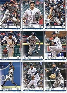 2019 Topps Complete (Series 1 & 2) Baseball Detroit Tigers Team Set of 22 Cards: Matthew Boyd(#93), James McCann(#155), Michael Fulmer(#173), Nicholas Castellanos(#209), Jeimer Candelario(#211), Joe Jimenez(#217), Shane Greene(#229), Miguel Cabrera(#230), Jordan Zimmermann(#249), Niko Goodrum(#251), Daniel Norris(#382), Matt Moore(#449), Mikie Mahtook(#477), Comerica Park(#491), JaCoby Jones(#493), Buck Farmer(#496), Victor Reyes(#560), plus more