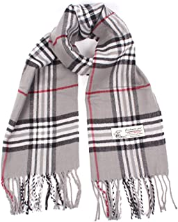 Plaid Cashmere Feel Classic Soft Luxurious Winter Scarf...