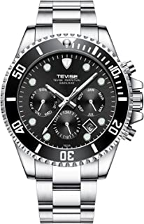 Tevise Casual Watch Analog Stainless Steel Band for Men