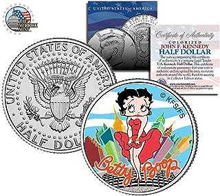 コイン ベティ ブープ 公式ライセンス マリリンモンロー ポーズ カラー ケネディ ハーフ ダラー 50セント