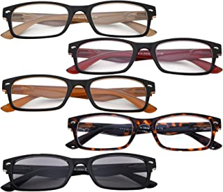 BFOCO 5 Pairs Classic Gl with Spring Hinges for Men Women
