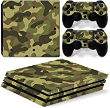 Chickwin PS4 Pro Vinyl Skin Full Body Cover Sticker Decal For Sony Playstation 4 Pro Console and 2 Dualshock Controller Skins (Army Camo)