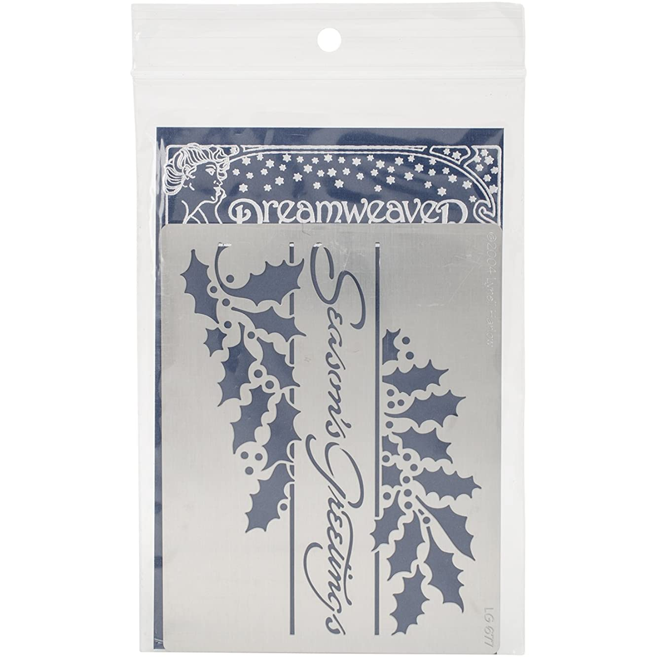 Stampendous Dreamweaver Metal Stencil, Seasons Greetings
