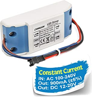 Chanzon LED Driver 900mA (Constant Current Output) 12V-20V (Input 100-240V AC-DC) (4-6) x3 12W 15W 18W 20W Power Supply 900 mA Lighting Transformer Drivers for High Power COB Chips (Plastic Case)