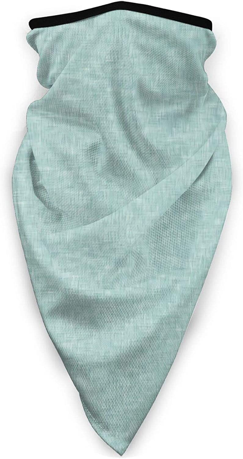 Baby Blue Linen Solid Bandana Face Mask Balaclava Scarf Multifunctional Cloth Neck Gaiter Headwear,Seamless Breathable Face Cover for Women and Men