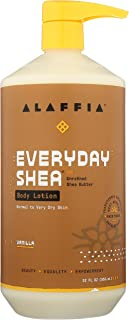 Alaffia EveryDay Shea Body Lotion - Normal to Very Dry Skin, Moisturizing Support for Hydrated, Soft, and Supple Skin with...