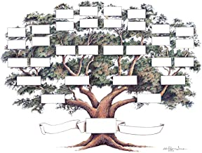 The Raymon Troup Studio Family Tree Chart, 14x18 Inches, 5 to 6 Generations